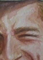 Just a small portion of the face to show the loose painting style.